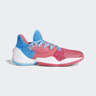 Tênis Harden Vol. 4 Bright Cyan / Real Pink / Cloud White EF0998