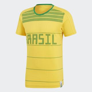 Playera Brasil Bold Gold / Green CF1739