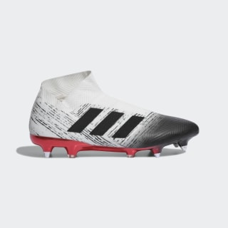 Calzado de Fútbol NEMEZIZ 18+ SG Off White / Core Black / Active Red F36152