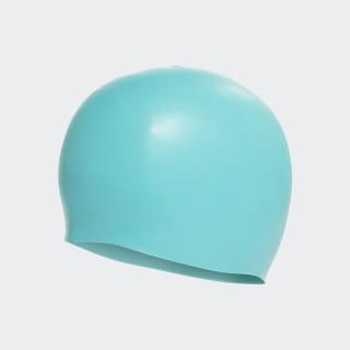 adidas silicone logo swim cap Hi-Res Aqua / Active Teal DY5178