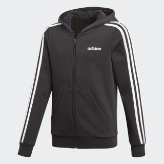 Essentials 3-Stripes Hoodie Black / White DV0368