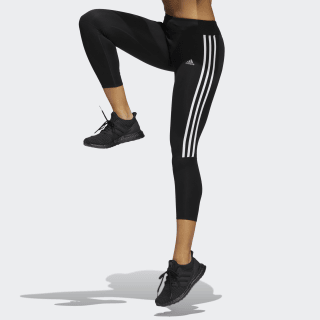 Calça Legging Running 3-Stripes BLACK/WHITE CZ8095