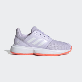 CourtJam Schuh Purple Tint / Cloud White / Signal Coral EH1103