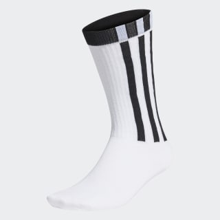 Meias 3-Stripes Essentials White / Black / Black FM6793