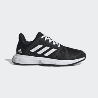 CourtJam Bounce Schuh Core Black / Cloud White / Matte Silver EG1139