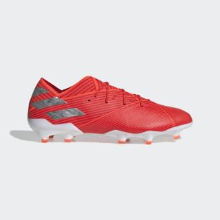 Calzado de Fútbol Nemeziz 19.1 Terreno Firme Active Red / Silver Metallic / Solar Red F34408