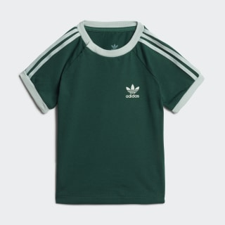 Tričko 3-Stripes Collegiate Green / Vapour Green EJ9366