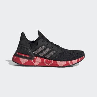 Ultraboost 20 Shoes Core Black / Glory Pink / Scarlet EG0761