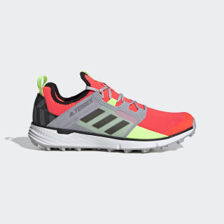 Terrex Speed LD Trail Running Shoes Solar Red / Grey Three / Signal Green FV4582