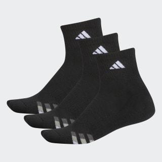 Cushioned Quarter Socks 3 Pairs L Black / White / Light Onix H77460