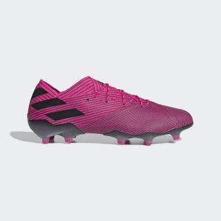 Calzado de Fútbol Nemeziz 19.1 Terreno Firme Shock Pink / Core Black / Shock Pink F34407