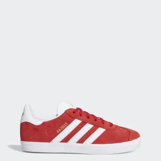 Gazelle Shoes Scarlet / Cloud White / Gold Metallic BY9543
