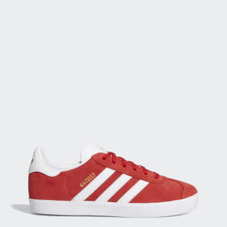 Zapatilla Gazelle Scarlet / Footwear White / Gold Metallic BY9543