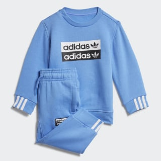 Crew Sweatshirt Set Real Blue ED7720