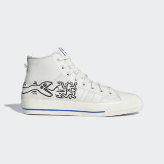 Nizza Hi RF Keith Haring Shoes Crystal White / Blue / Chalk White EE9297