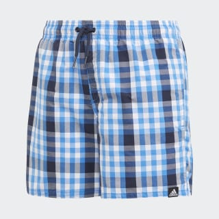 Short de bain Check True Blue / Cloud White DQ2970
