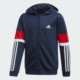Buzo con Capucha Equipment Collegiate Navy / Vivid Red / White FM1677