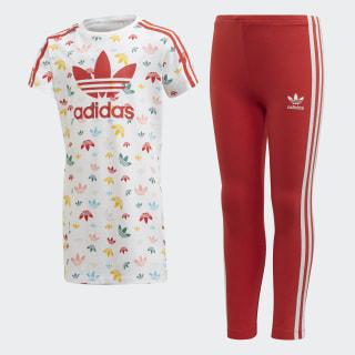 T-Shirt Jurk Setje White / Multicolor / Lush Red FM4943