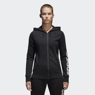 Veste à capuche Essentials Linear Full Zip Black / White S97076