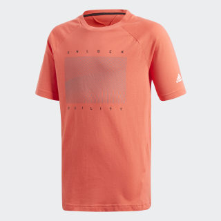 T-shirt Urban Football Real Coral / White CF7058