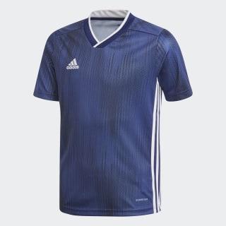 Camiseta Tiro 19 dark blue / white DP3180