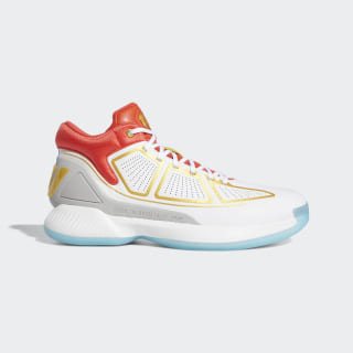 Баскетбольные кроссовки Rose 10 ftwr white / gold met. / bright red G26160