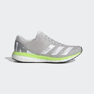 Adizero Boston 8 Schuh Grey One / Cloud White / Signal Green EG1170