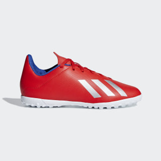 X Tango 18.4 Turf Shoes Active Red / Silver Metallic / Bold Blue BB9417