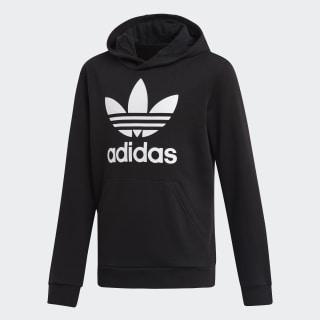 Sweat-shirt à capuche Trefoil Black / White DV2870