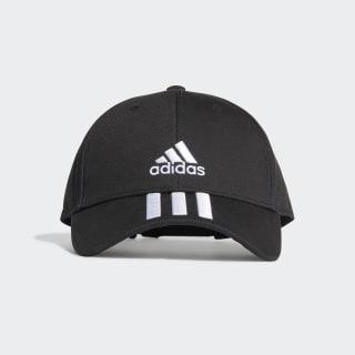 3-Stripes Twill Beyzbol Şapkası Black / White / White FK0894