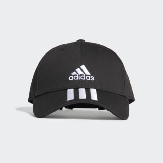 Casquette Baseball 3-Stripes Twill Black / White / White FK0894