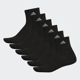 Athletic Cushioned Quarter Socks 6 Pairs XL Black B93227