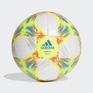 Bola Conext 19 Society+ White / Solar Yellow / Solar Red / Football Blue DN8643