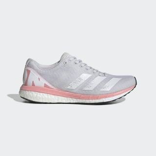 adizero Boston 8 Schoenen Dash Grey / Cloud White / Glory Pink EE5147