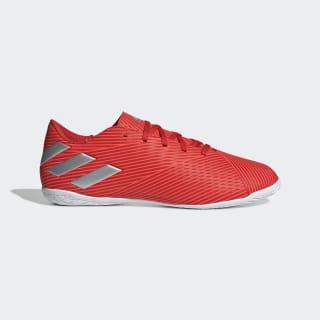 Calzado de Fútbol Nemeziz 19.4 Bajo Techo Active Red / Silver Metallic / Solar Red F34528