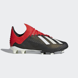 X 18.1 Firm Ground Cleats Core Black / Cloud White / Active Red BB9351