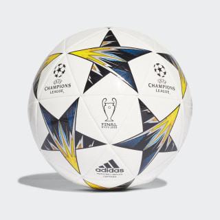 Balón Capitano UCL Finale Kiev WHITE/BLACK/SOLAR YELLOW/BLUE CLEAR AQUA/ORANGE CF1197