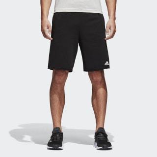 Essentials Raw-Edged Shorts Black / White BK7461