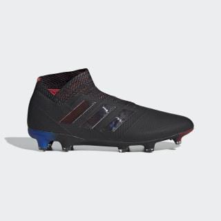 Футбольные бутсы Nemeziz 18+ FG core black / core black / football blue BB9422