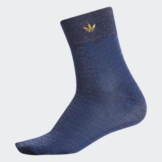 Lurex Quarter Socks Black CK2244