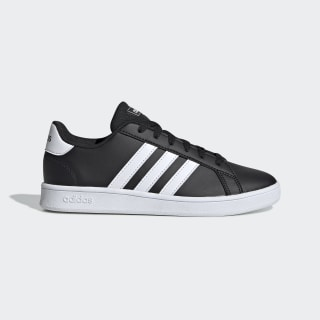 Grand Court Wide Shoes Core Black / Cloud White / Cloud White EF0111