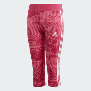 Calça Legging Equipment 3 Stripes 3-4 Semi Solar Pink / Real Magenta / White DV2761
