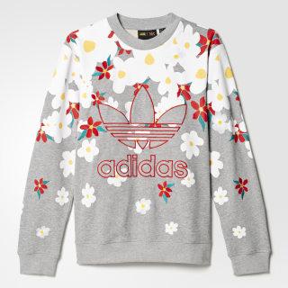 Pharrell Williams Kauwela Sweatshirt Medium Grey Heather/White AO2984