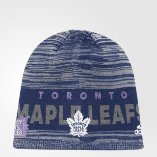Hockey Fights Cancer Maple Leafs Heathered Beanie Multicolor DB9991