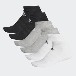 Cushioned Low-Cut Socks 6 Pairs Medium Grey Heather / Medium Grey Heather / White / White DZ9380