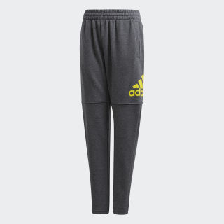 Essentials Logo Pants Dark Grey Heather / Shock Yellow DJ1758