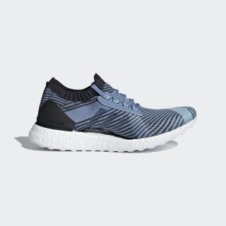 Кроссовки для бега Ultraboost X Parley raw grey s18 / carbon / blue spirit AQ0421
