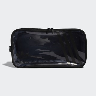 Clear 3-Stripes Shoe Bag Black CM3846