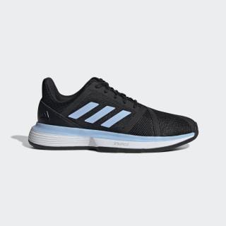 Кроссовки для тенниса CourtJam Bounce Clay core black / glow blue / ftwr white EE4302