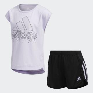 Soccer Shorts and Tee Set Purple Tint EV6685